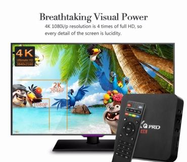 Андроид ТВ приставка MXQ PRO 4K / Процессор Amlogic S905X 4 ядра Cortex A53 2.0 ГГц 64 Bit / Оперативная память 1 ГБ / Память устройства 8 ГБ / Андроид 6.0.1