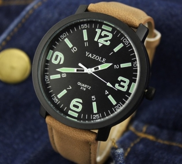 светящиеся  мужские часы Yazole