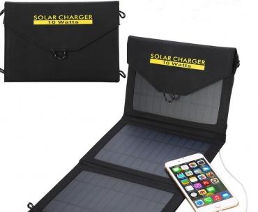 портативное складное солнечное зарядное устройство (10 Вт , USB)
