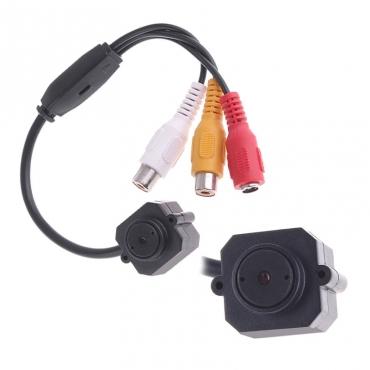 Мини камера с микрофоном, разрешение 380 ТВЛ, объектив 5.5 мм, система Pal