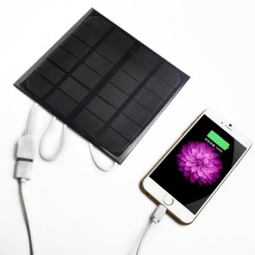солнечные панели USB Солнечное Зарядное Устройство Для iPhone MP3 MP4 PDA (Цвет: Черный)