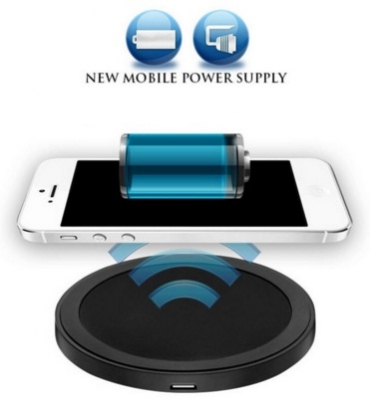 беспроводное зарядное устройство зарядки с USB кабель для Samsung Galaxy S6 + плюс черный