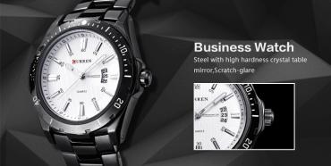 мужские часы CURREN c металическим ремешком Rolojio