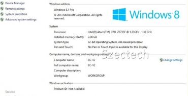 Мини Компьютер Windows 8.1/ RAM 2Гб / HDD 32Гб / wifi / bluetooth