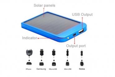 Телефонное зарядное устройство на солнечных батареях 5600 мАч
