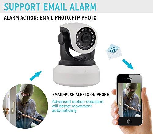 беспроводная IP/WiFi камера 720P c PTZ, интернет-наблюдение, микрофон, видеоконференция, ночное видение