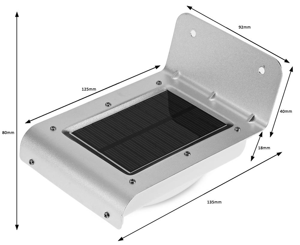 Настенный Светильник, c датчиком движения на солнечной панельи