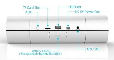 HIFi NFC Bluetooth портативные аудио колонки (touch panel) support USB, TF