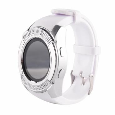 Умные круглые часы - телефон V8, смарт часы с SIM картой, камерой и слотом по флешку