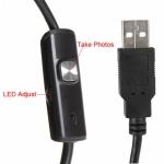 Водонепроницаемый мини USB эндоскоп (мини-камера) с подсветкой, длина 1 метр
