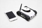 Беспроводной танк с камерой на радиоуправлении Wi-Fi из приложения для iOS или Android