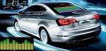 Яркий световой эквалайзер на заднее стекло автомобиля с реакцией на громкость звука