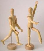 деревянный человечек на шарнирах, высота 11 см
